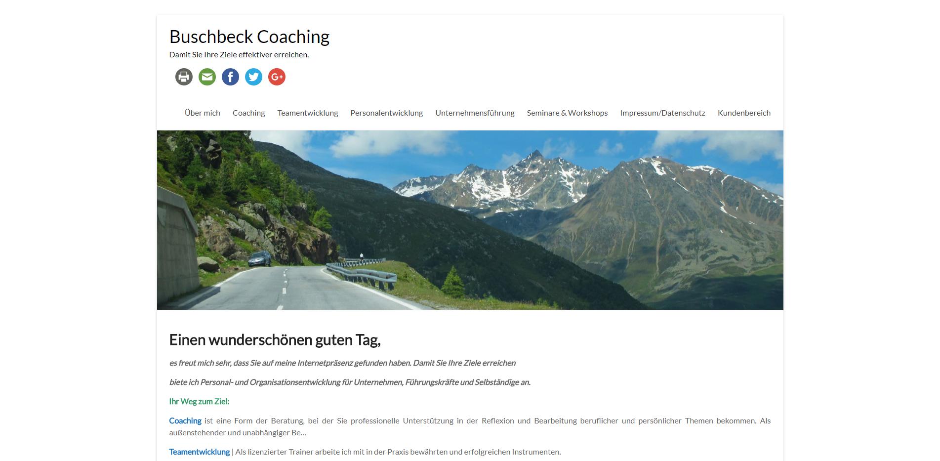 Herzlich Willkommen Buschbeck Coaching